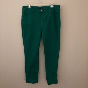 NYDJ Green Brushed Denim Jeans